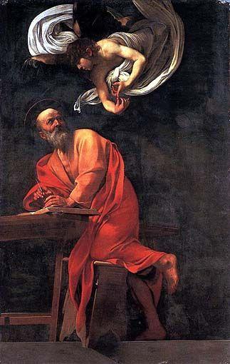 San Matteo nella Cappella Contarelli-Caravaggio, 295cm X 195cm, olio su tela, Roma, San Luigi dei Francesi.