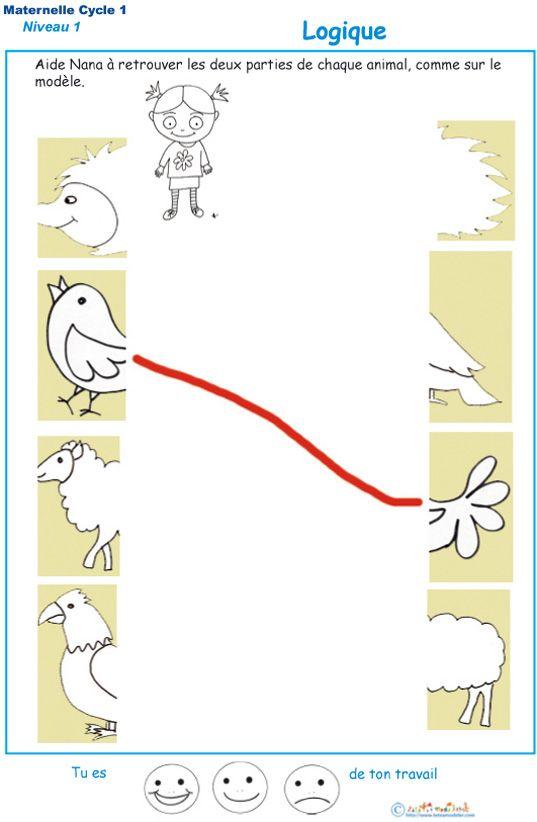 Exercices Pour Developper La Logique A La Maternelle Exercice Petite Section Maternelle Logique