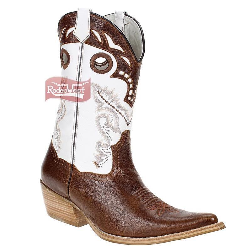 Bota Masculina Texana Bico Fino com Cano Bordado - West Country 16076   Homens d17d47a33e7