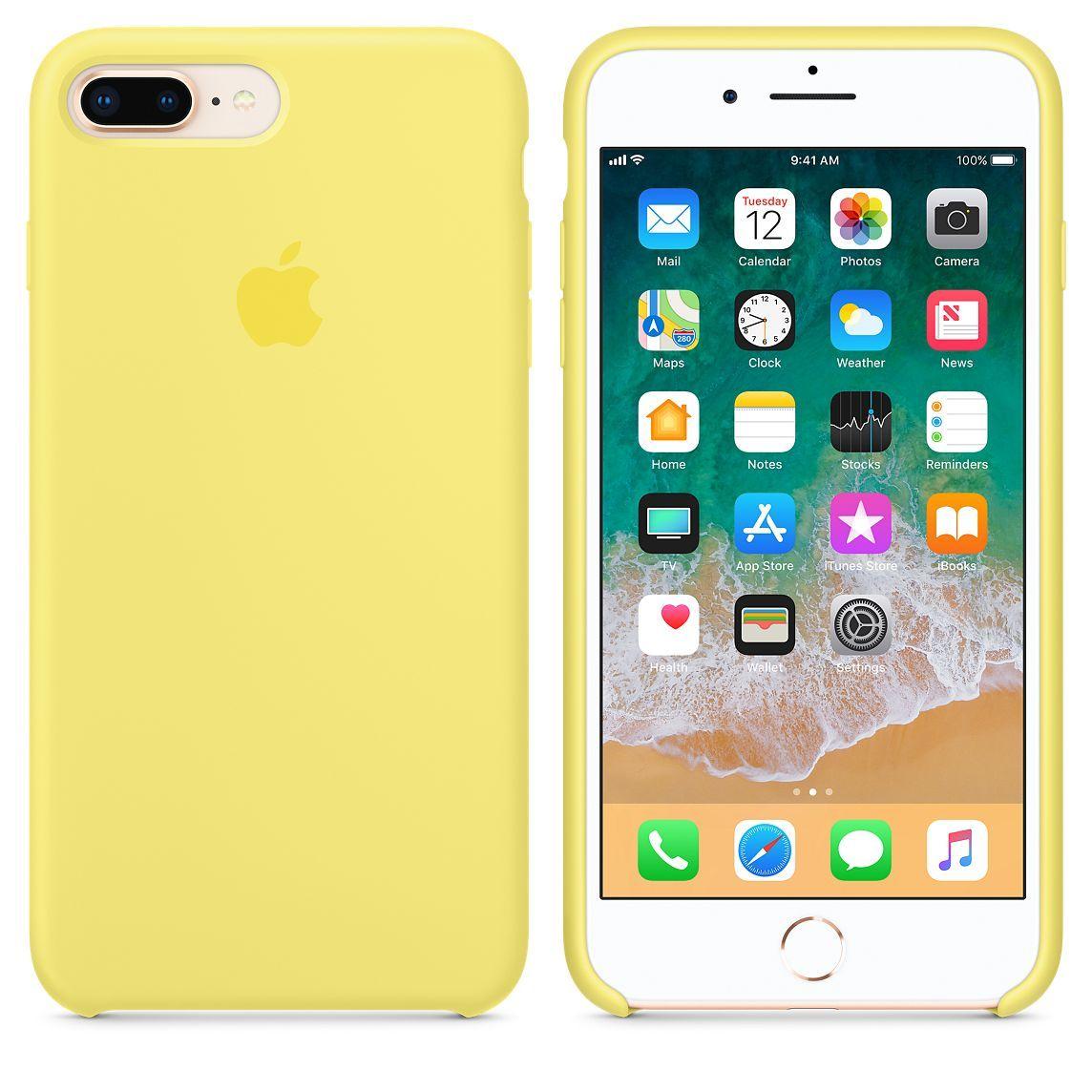 Iphone 8 Plus 7 Plus Silicone Case Black Fundas De Silicona