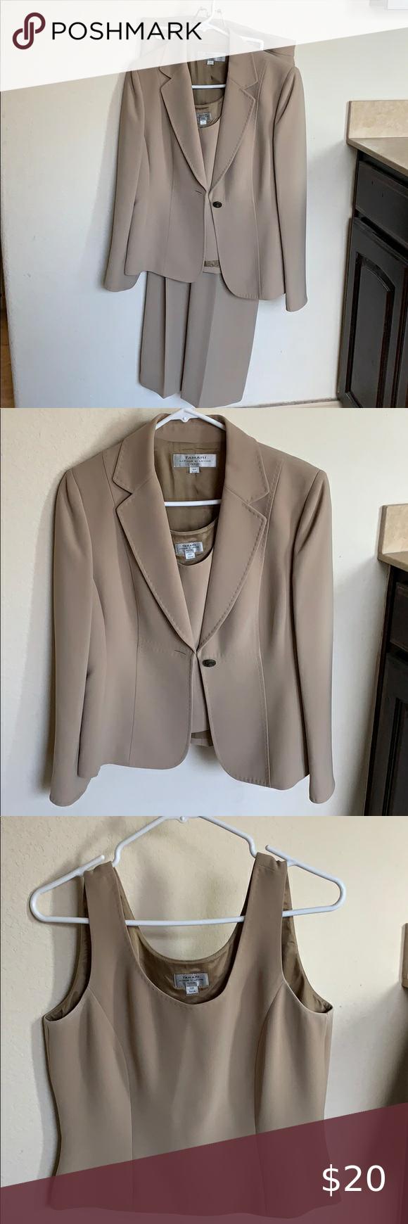 Tan Pant Suit