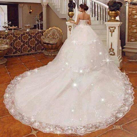 Princess sparkly wedding dress | my fantasy wedding dresses ...