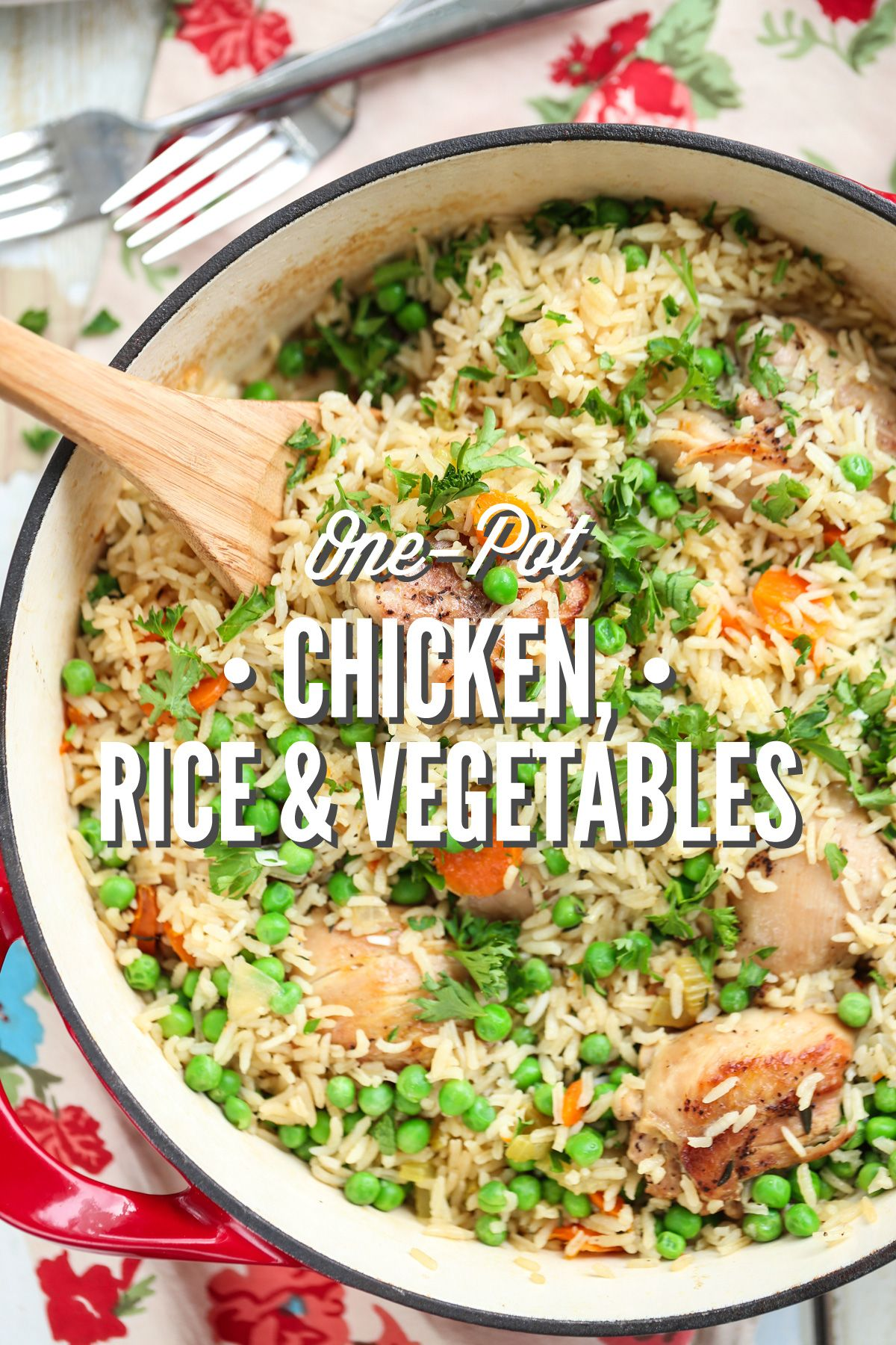 One Pot Chicken Rice And Vegetables Live Simply Recipe One Pot Chicken Recipes Real Food Recipes
