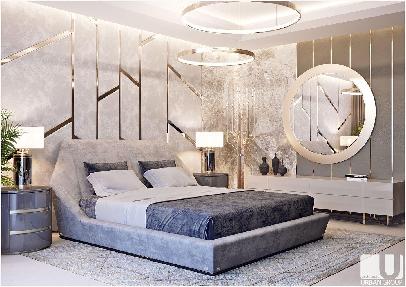 Luxury bedroom on Behance in 6  Luxurious bedrooms, Modern