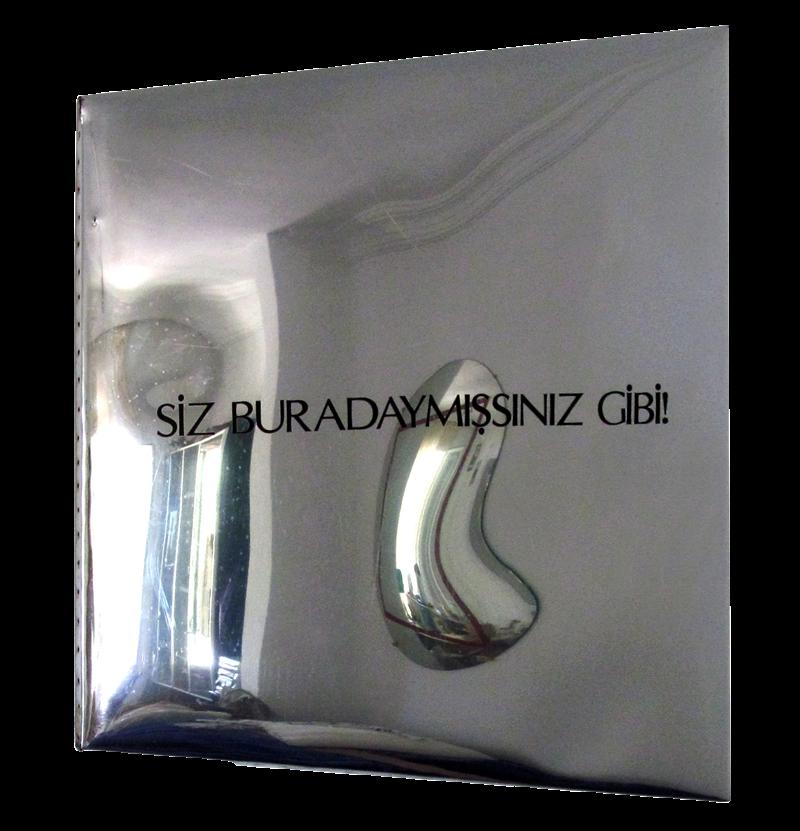 """""""Siz Buradaymışsınız Gibi""""1993 Mirror Series Letters, Mirror on Panel 101x100x90 cm  #art #artist #contemporary #contemporaryart #contemporaryartist #mirror #ismetdogan"""