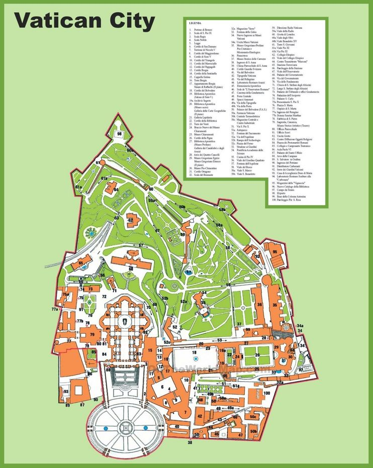 Vatican City tourist attractions map