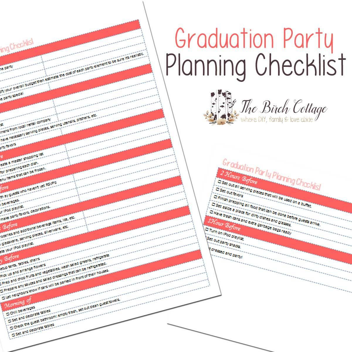 7 tips for a less stressful graduation party and a free planner