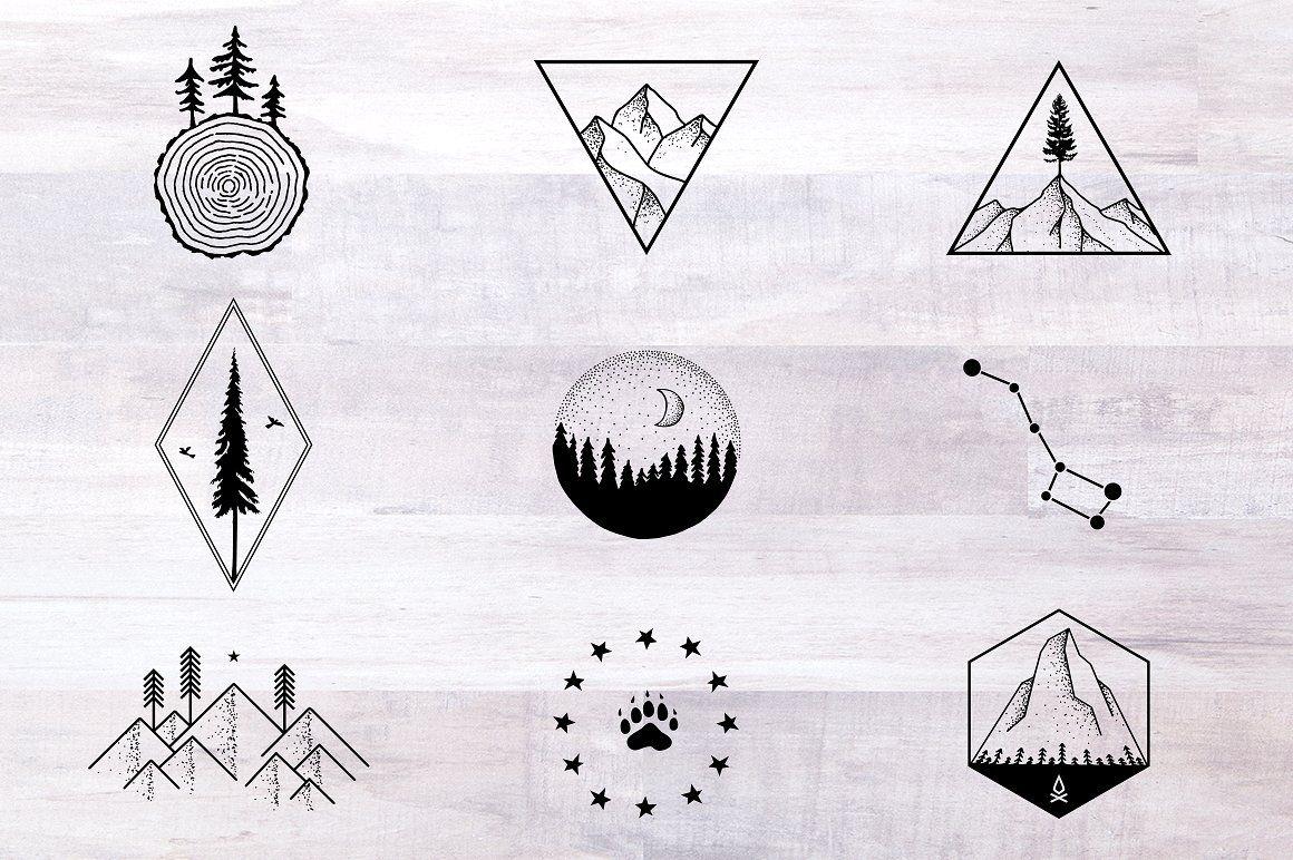 Nature Tattoo Designs Nature Tattoos Hiking Tattoo Camping Tattoo