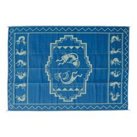 Ming`s Mark KO3 9 X 12 Blue and Green Kokopelli Mat $69.99