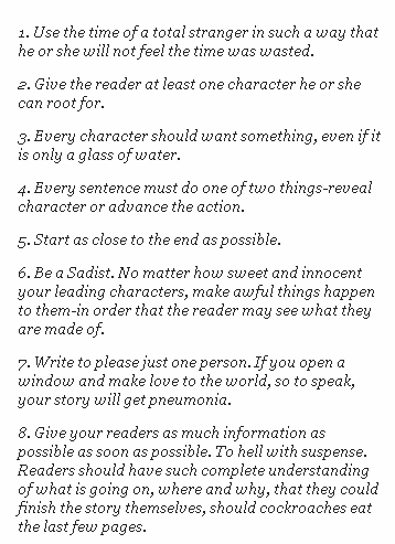 Kurt Vonnegut's 8 Tips on How to Write a Great Story | Editor ...