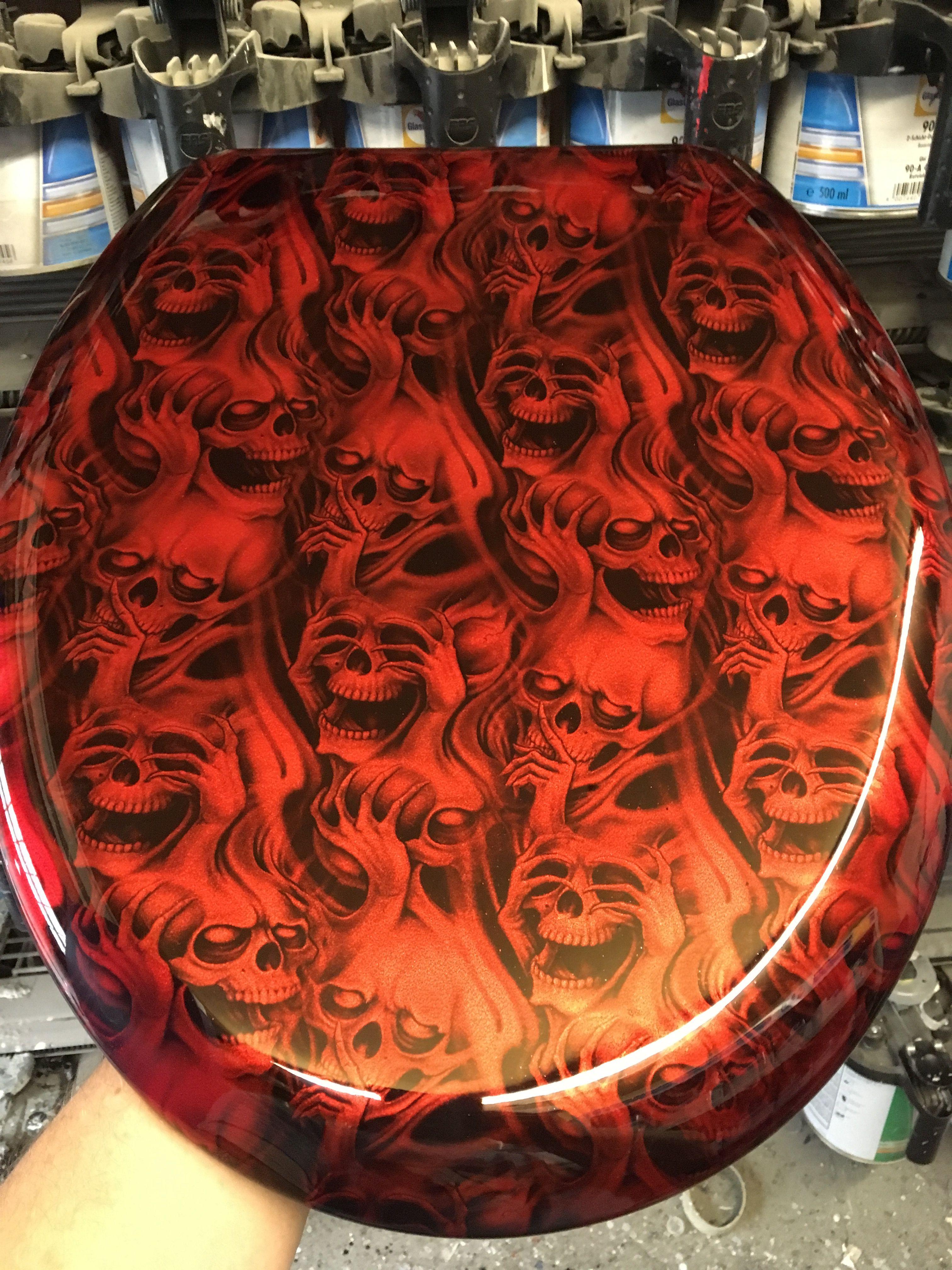 Hydro Graphics on Toilet Seat Skulls