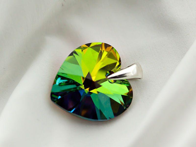 Pendentif Coeur Cristal Swarovski ET Argent 925 1000E Poinçon PE07 | eBay