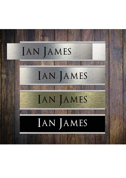 Door Nameplate Holders With Personalised Name Plate Insert House
