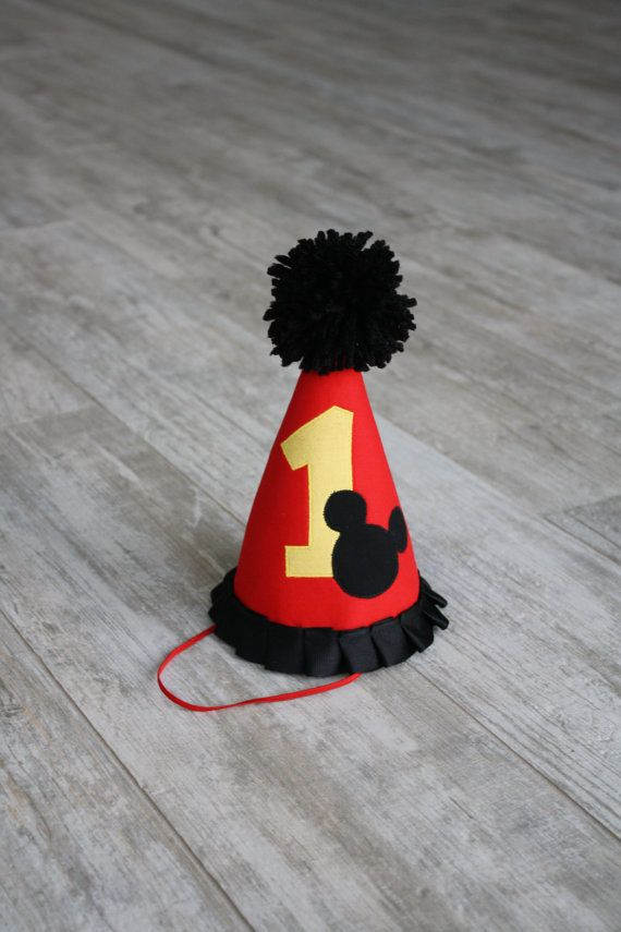 Mickey Mouse Birthday Hat By TheThreadStudio On Etsy 1800 1st Hats