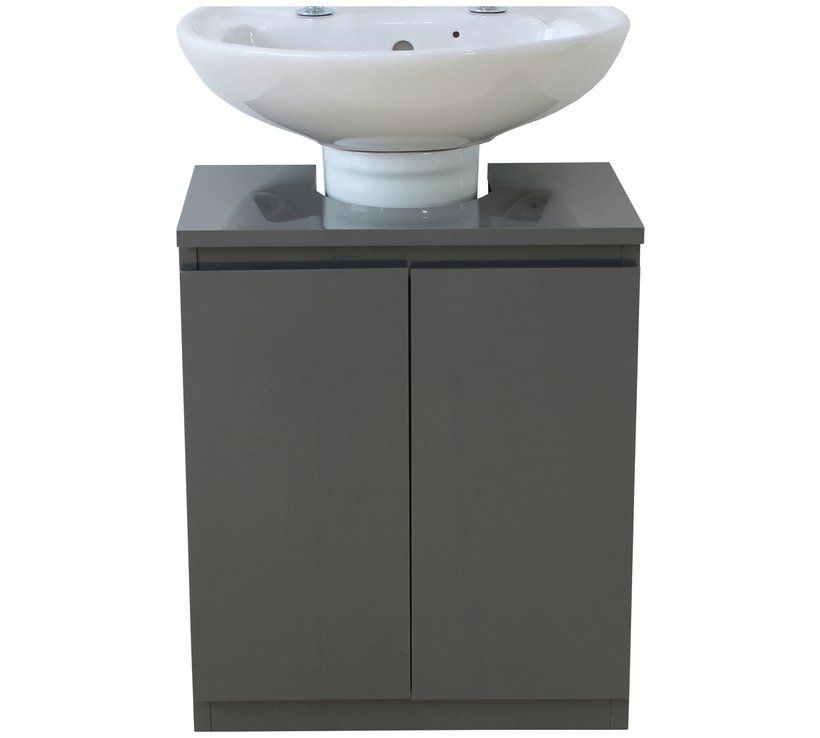 Buy Hygena Gloss Undersink Storage Grey Bathroom Shelves And Storage Units Argos Bathroom Shelves Grey Bathroom Furniture Argos Home