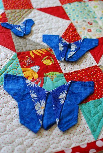 pat sloan origami butterflys - and my day on the Moda Love tour! http://blog.patsloan.com/2014/09/pat-sloan-move-love-blog-hop.html #showmethemoda