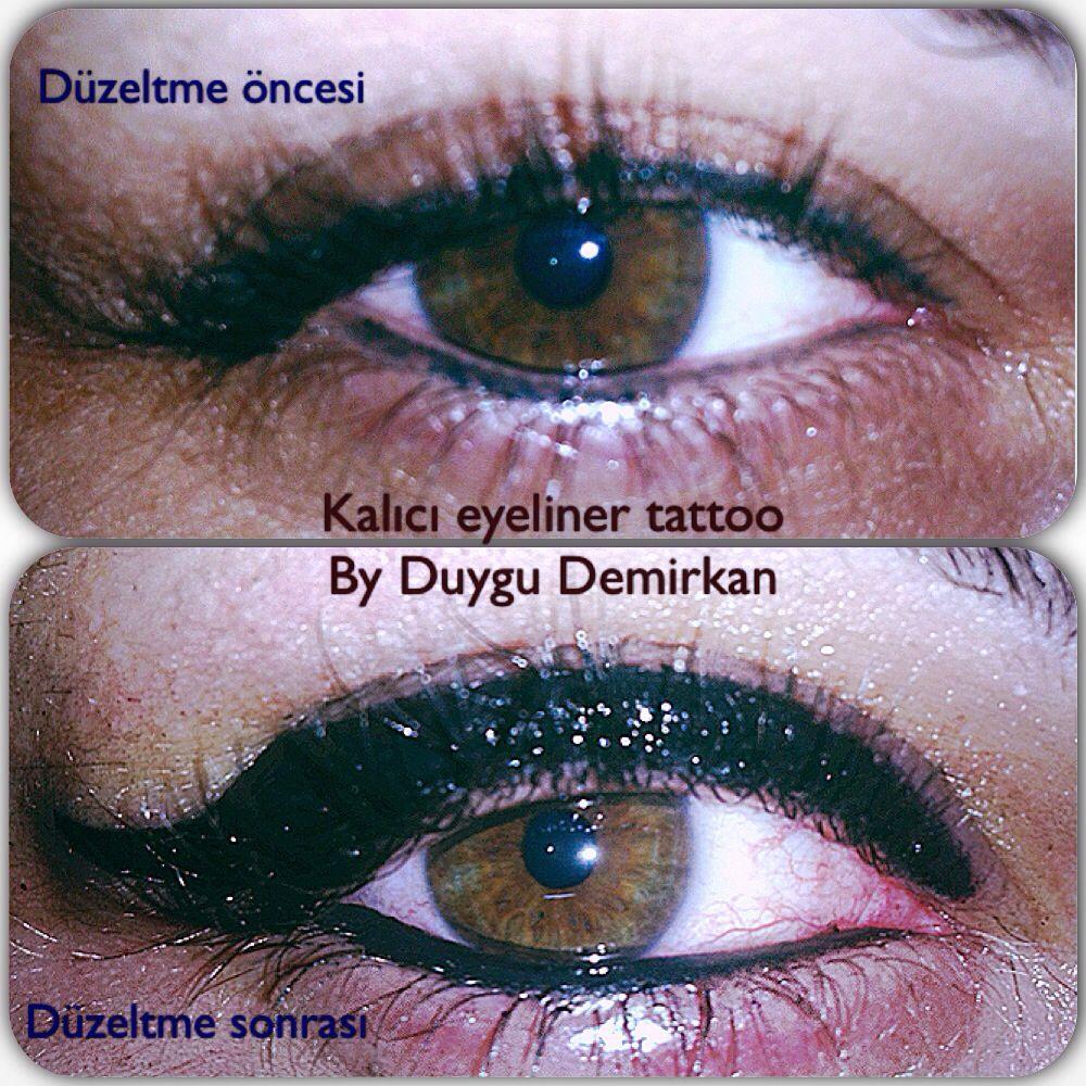 Eye liner, uygulamış olduğum kalıcı eyeliner. Kalıcı