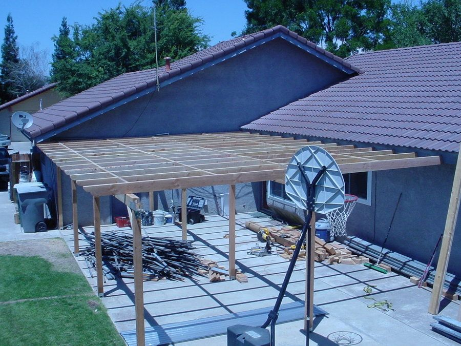 Cover For Existing Patio | Project Was A Patio Cover Rebuild I Removed All  Of The