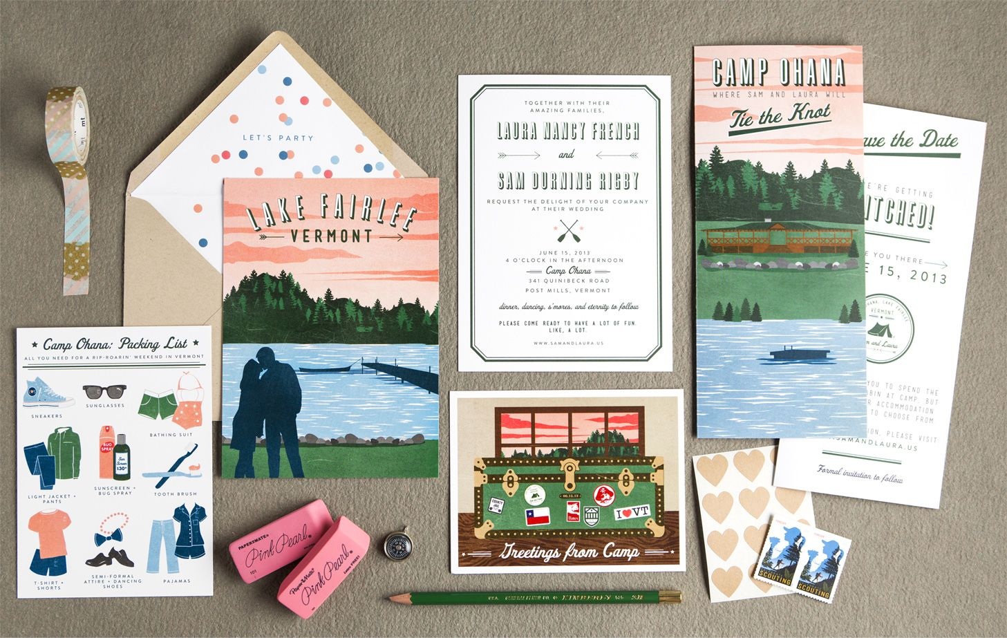 Laura Sam Vermont Camp Wedding Camp Wedding Summer Camp