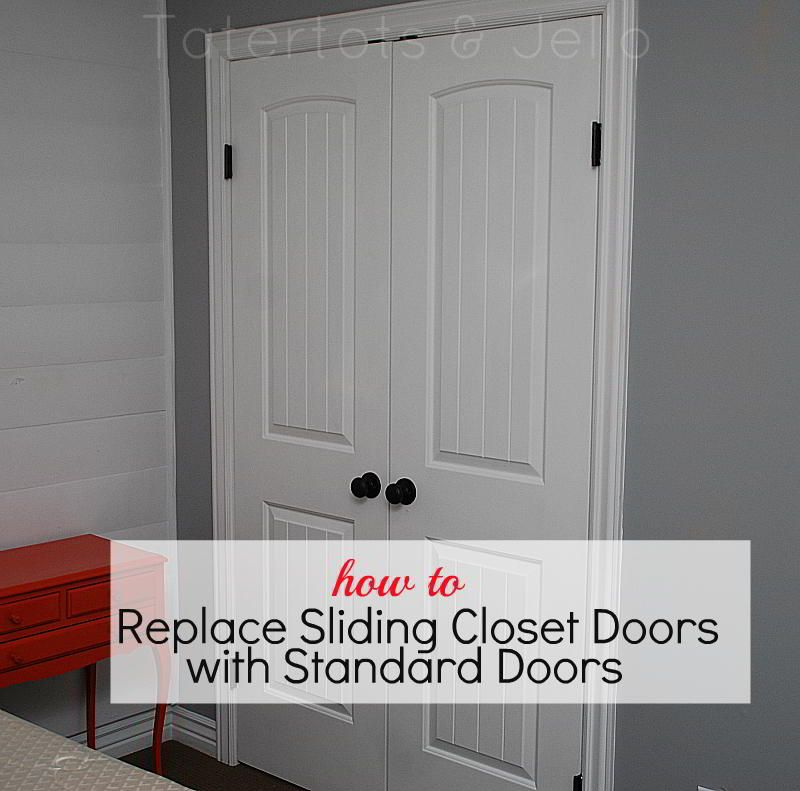 Superieur Changing Out Sliding Closet Doors...how To Replace Sliding Closet Doors  With Standard Doors
