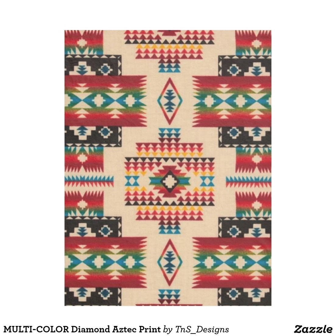 Multicolor diamond aztec print fleece blankets pinterest diy