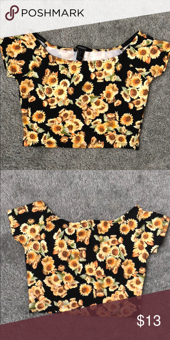 31e7033f4f2c8 Sunflower crop top Never used Forever 21 Tops Crop Tops