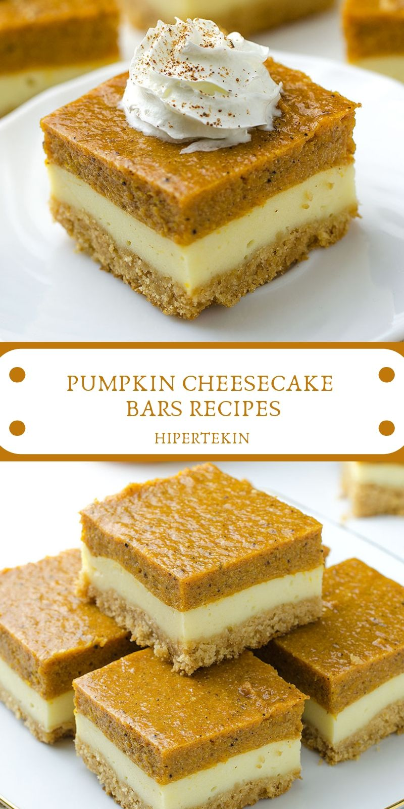 PUMPKIN CHEESECAKE BARS RECIPES -   16 desserts Cheesecake treats ideas