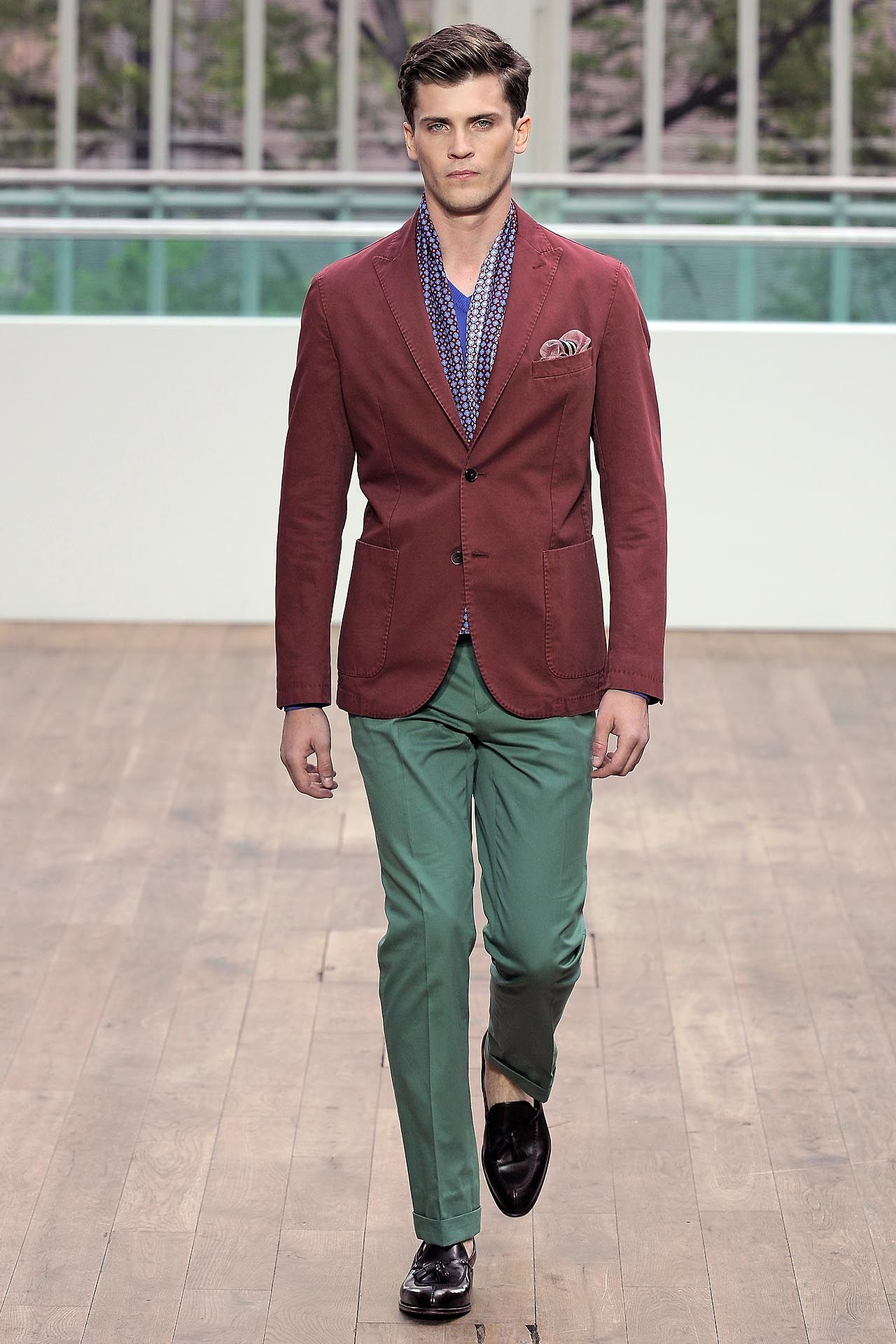 red jacket green pants hackett men style british menswear blog ...