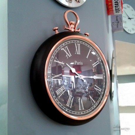 Horloge Montre A Gousset Geante Cuivre Et Noir Horloge Originale