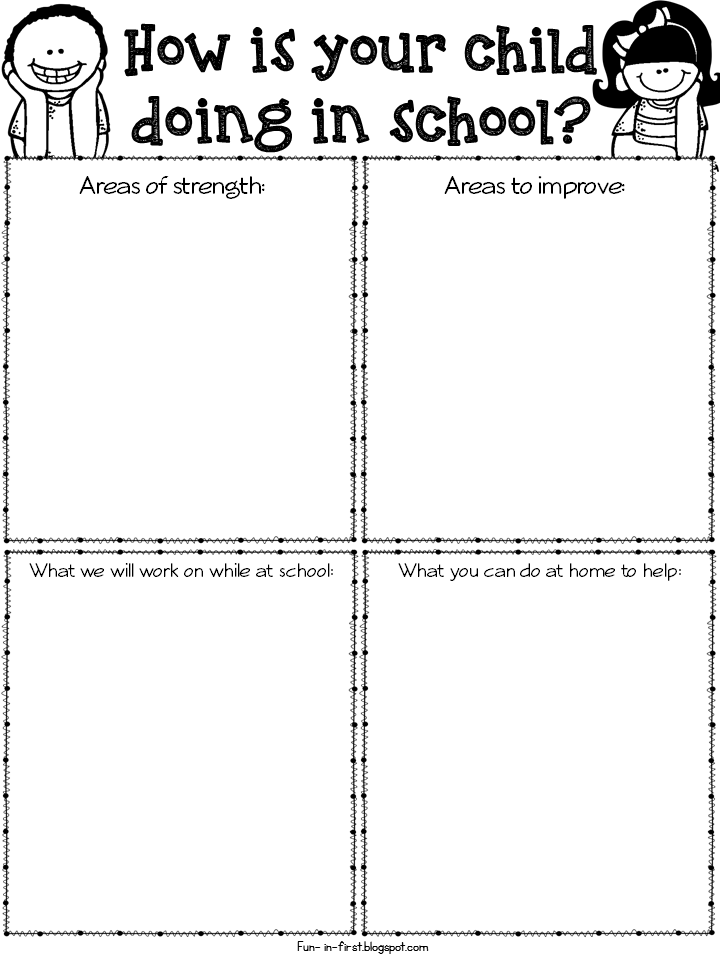 FREEBIE EDITABLE PARENT TEACHER CONFERENCE FORMS & THANK YOU ...