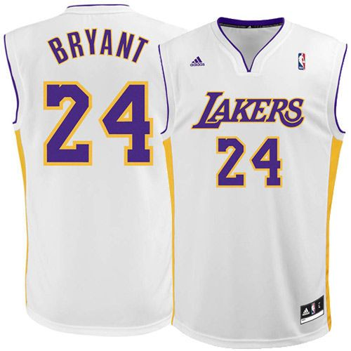 best service dc5f2 bfe89 Mens Los Angeles Lakers Kobe Bryant adidas White Replica ...
