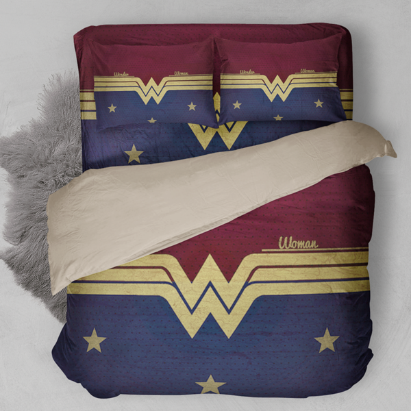 Perfect Bedding Sets For Wonder Woman Fans Quantity 3pcs