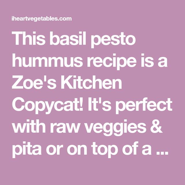 Basil Pesto Hummus Recipe Pesto Hummus Basil Pesto Pesto
