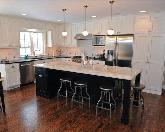 Beautiful L Shaped Kitchen Layouts Marble Kitchen Island Laminated Wooden Floor White Kitchen Cabinet White Kitchen Plans L Shape Kitchen Layout Kitchen Layout