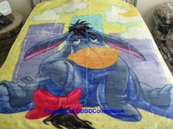 Amazon Com Eeyore Disney Twin Size 60 Quot X 80 Quot Royal Plush