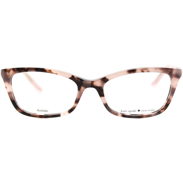 1284b69508 Kate Spade KS Delacy RS3 Havana Rose Cat-Eye Plastic Eyeglasses - 52mm ( 130