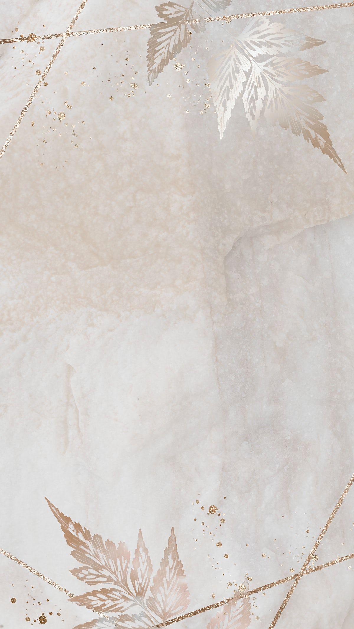 Download premium illustration of Glittery sickle spleenwort frame mobile