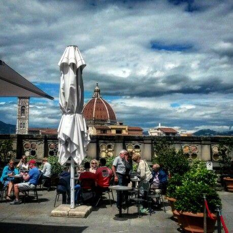 Terraza de la Academia en Firenze.