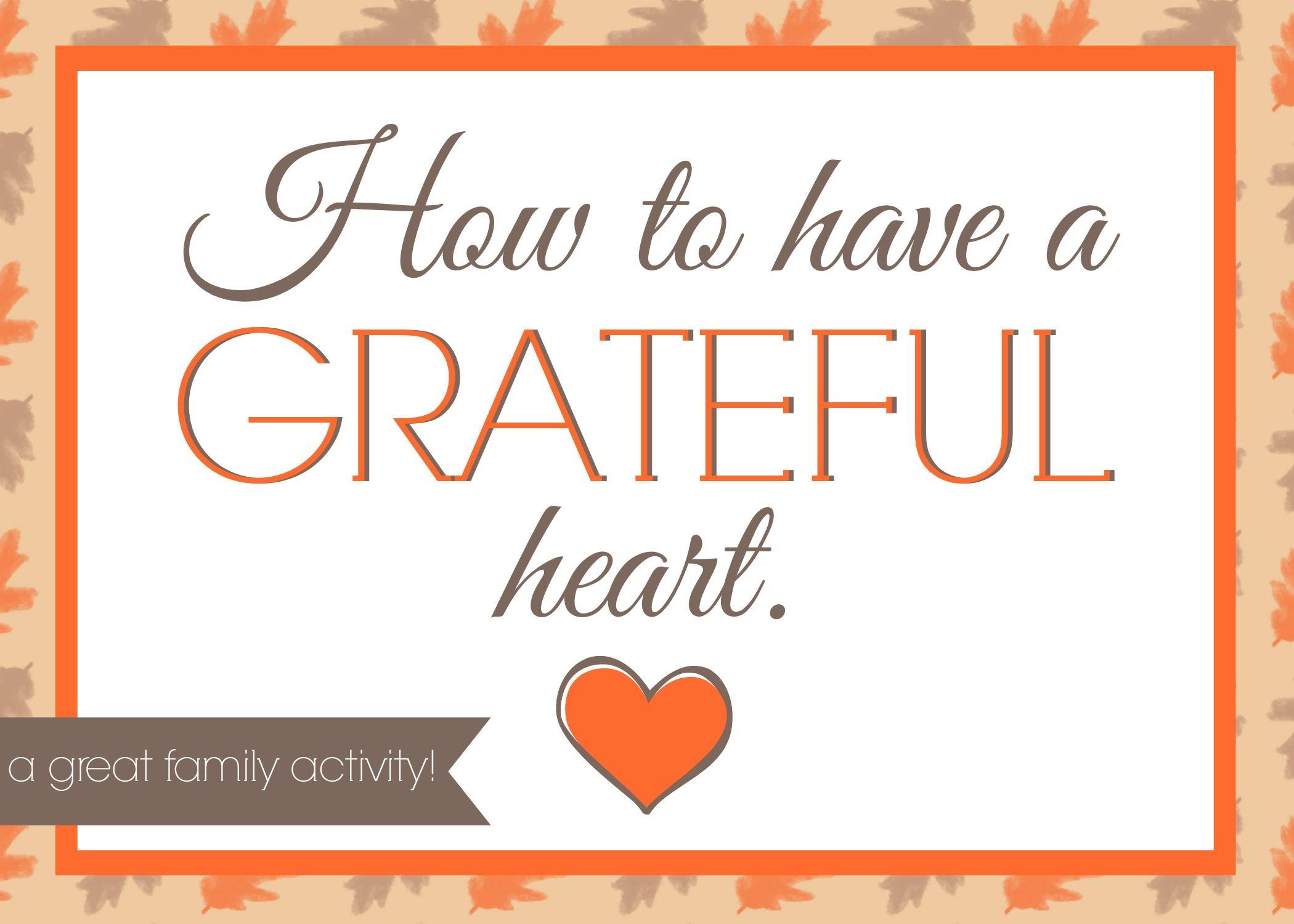 Family Night on Gratitude: (she: Veronica) | Pinterest | Family ...