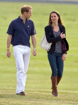 prince william of wales and kate middleton at polo match