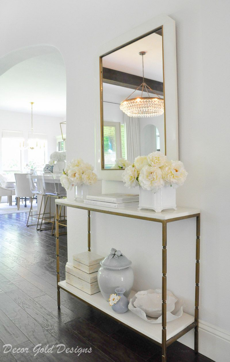 Summer Style Home Tour Table Decor Living Room Entry Table