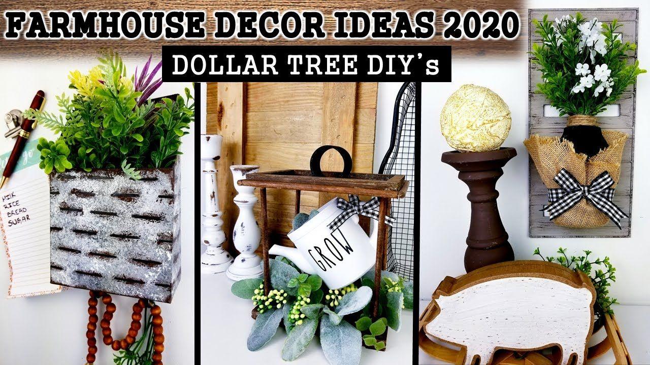 Dollar Tree Diy S Farmhouse Decor Ideas Cheap Diy S For Home Decor 2020 Youtube Dollar Tree Diy Diy Farmhouse Decor Farmhouse Decor