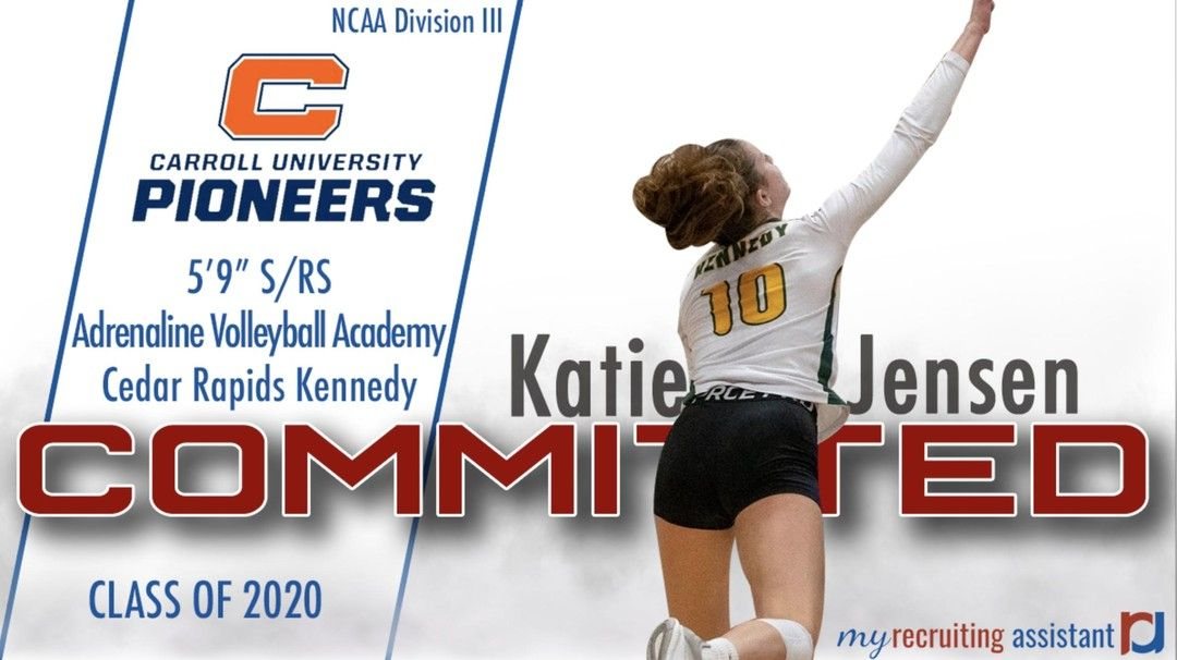 Congratulations To 2020 Rs S Katie Jensen On Her Commitment To Carroll University Go Pioneers Prepdig Prepv In 2020 Carroll University University Recruitment