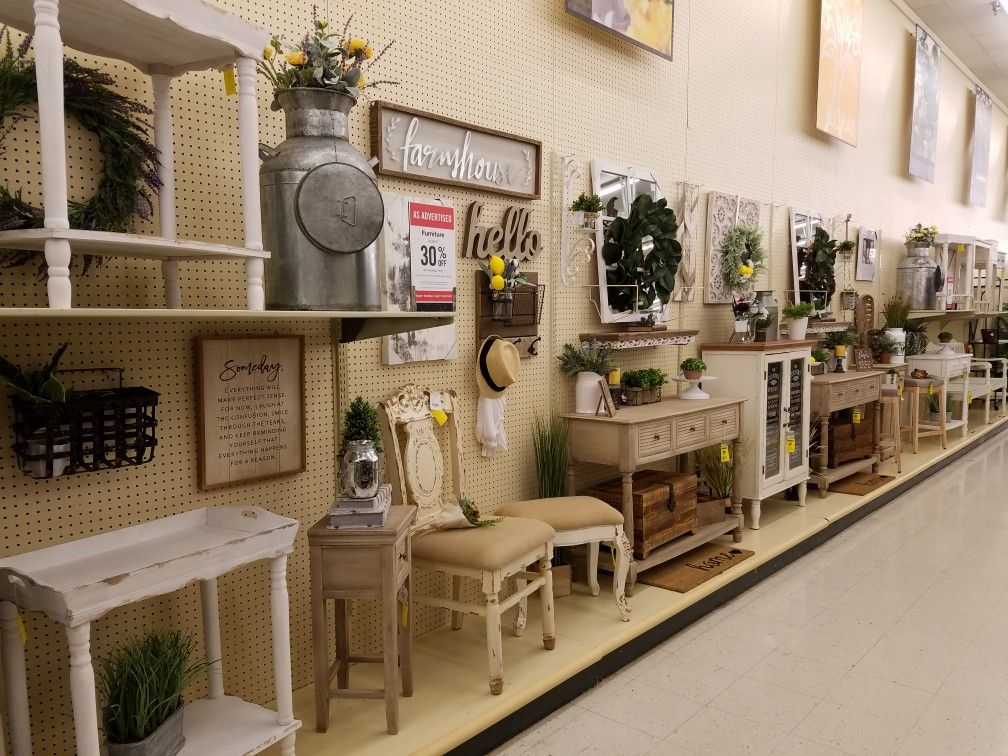 Hobby Lobby Farmhouse Furniture Display 2018 Hobby Lobby Designers