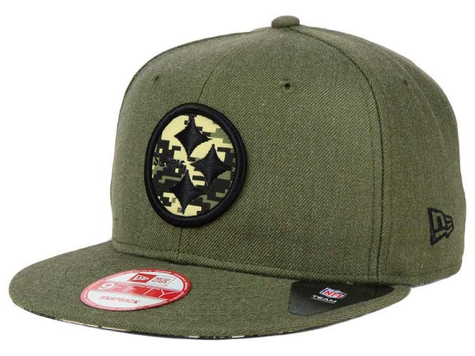 abd433a3bab Pittsburgh Steelers New Era NFL Camo 9FIFTY Snapback Cap Hats