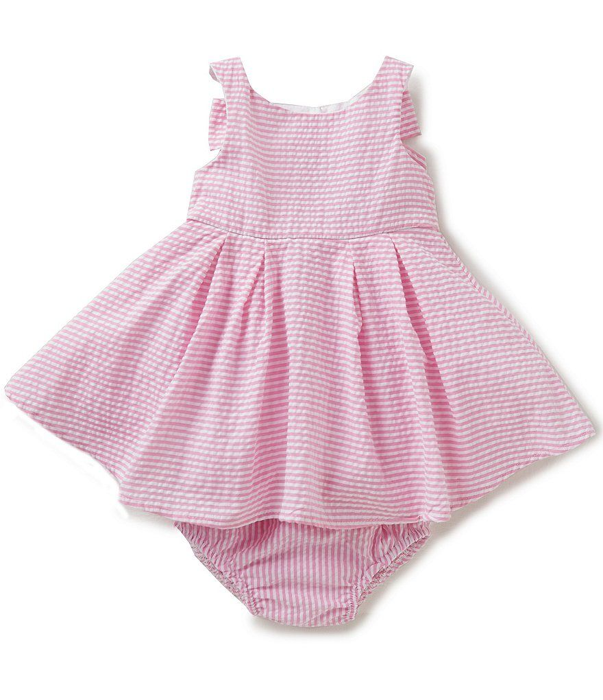 64f5f2943 Rare Editions Baby Girls 3-24 Months Striped Seersucker Bow-Back Dress