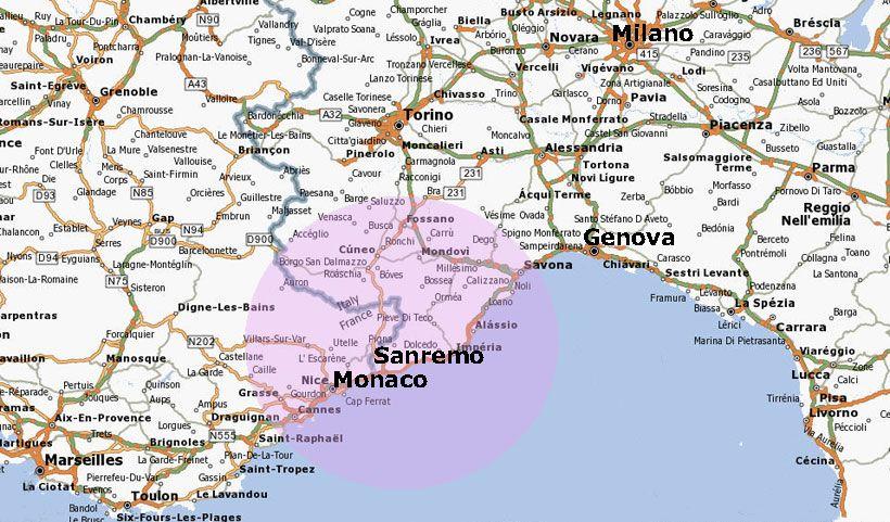 San Remo Italy Map location of San remo My Italy Italia mia