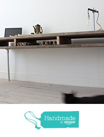 Ellie Reclaimed Scaffolding Board Urban Industrial Chic Long Desk with Built In Storage and Galvanised Steel Legs from Urban Grain Interiors http://www.amazon.com/dp/B01CST41EQ/ref=hnd_sw_r_pi_awdo_vF2rxb0GNMPDF #handmadeatamazon