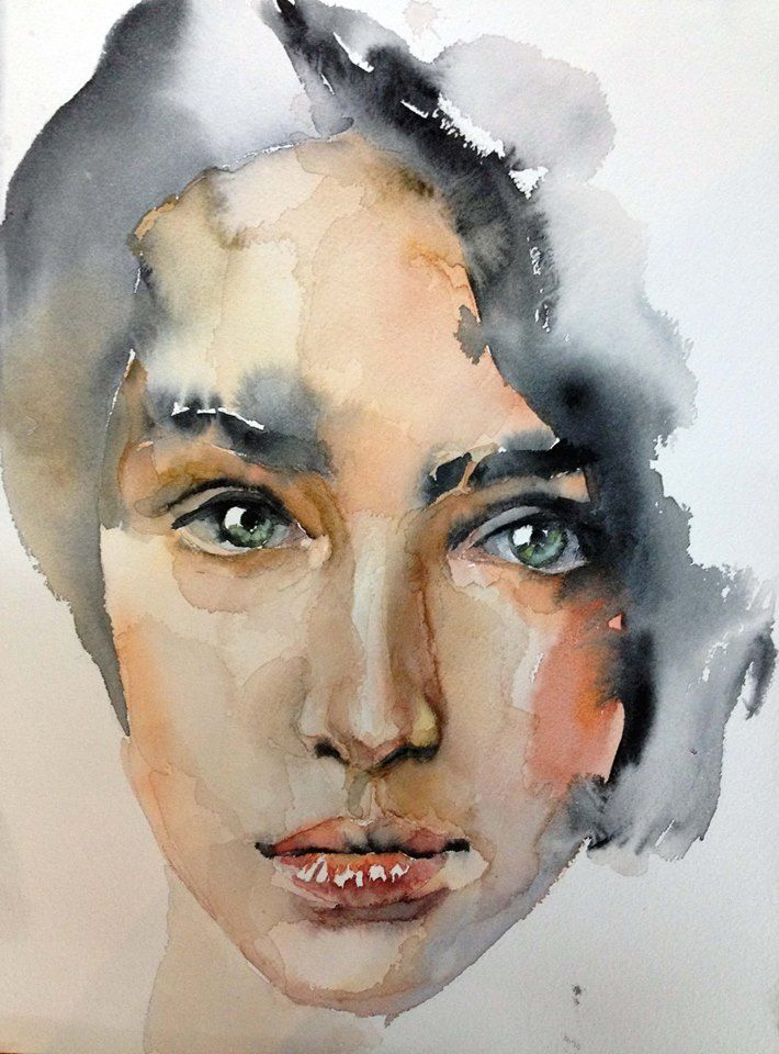 Watercolor By Andrei Sharov With Images Watercolor Portrait