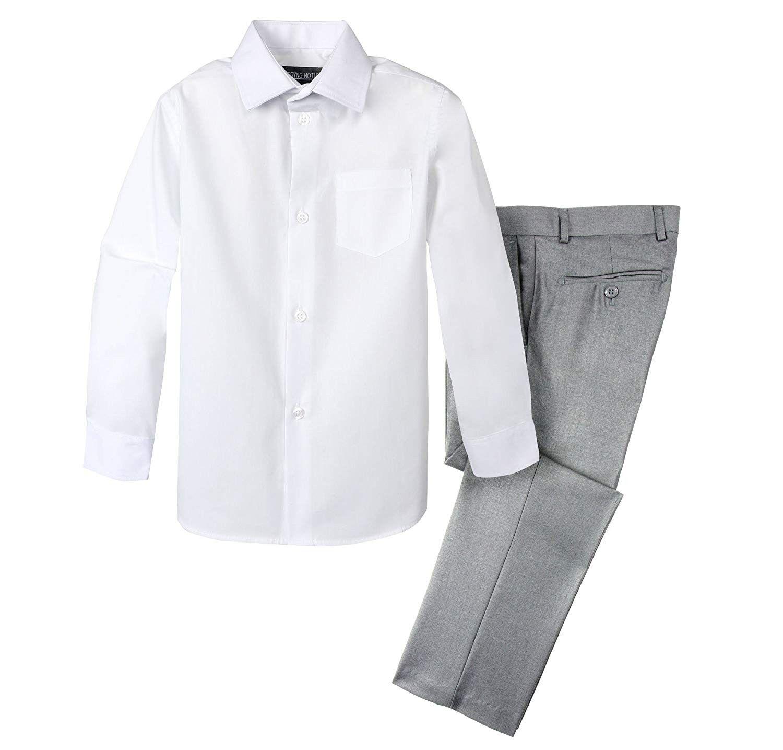 Boys Dress Pants And Shirt Light Grey Pants White Shirt Ci18eizwano Boys Dress Pants Boys Dress Shirts [ 1435 x 1500 Pixel ]